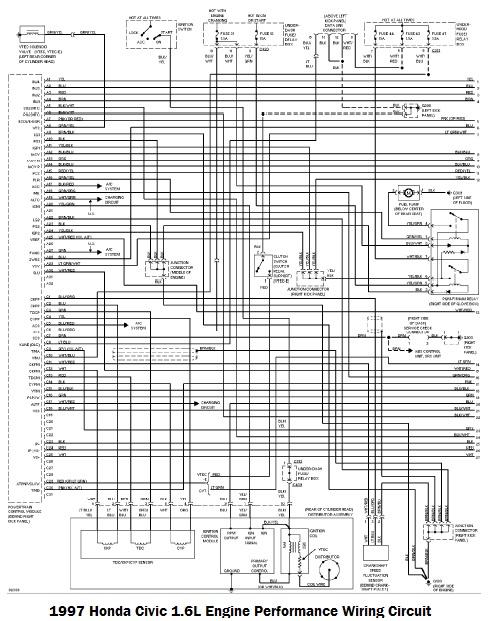 Hr 4765  1997 Honda Civic Electrical Wiring Diagram