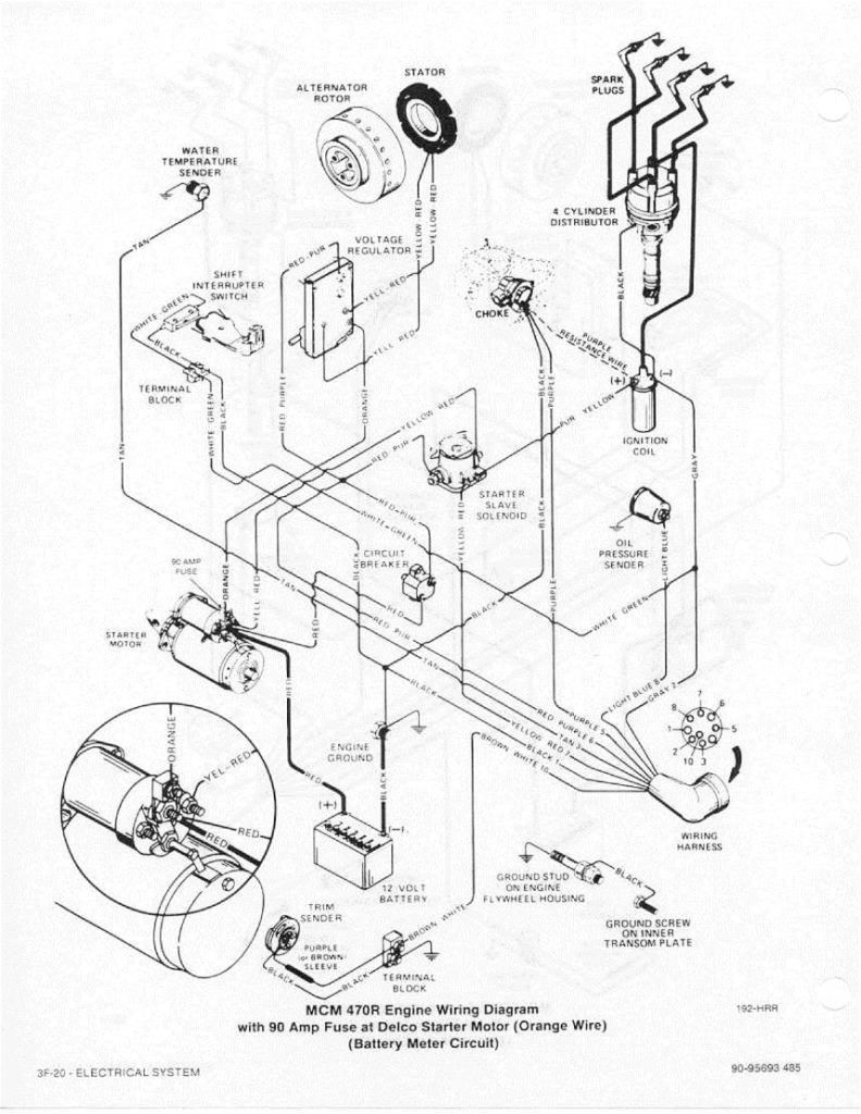 Mercruiser 4 3 Alternator Wiring Diagram