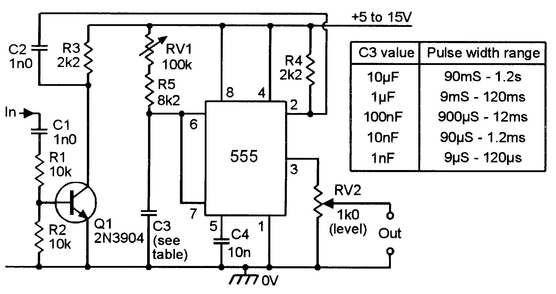 Tremendous 555 Pulse Generator Circuit Basic Electronics Wiring Diagram Wiring Cloud Licukshollocom