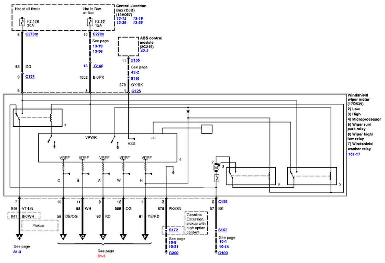 2002 ford f 250 engine wire diagram cn 2947  ford f 250 wiper motor wiring diagram schematic wiring  ford f 250 wiper motor wiring diagram