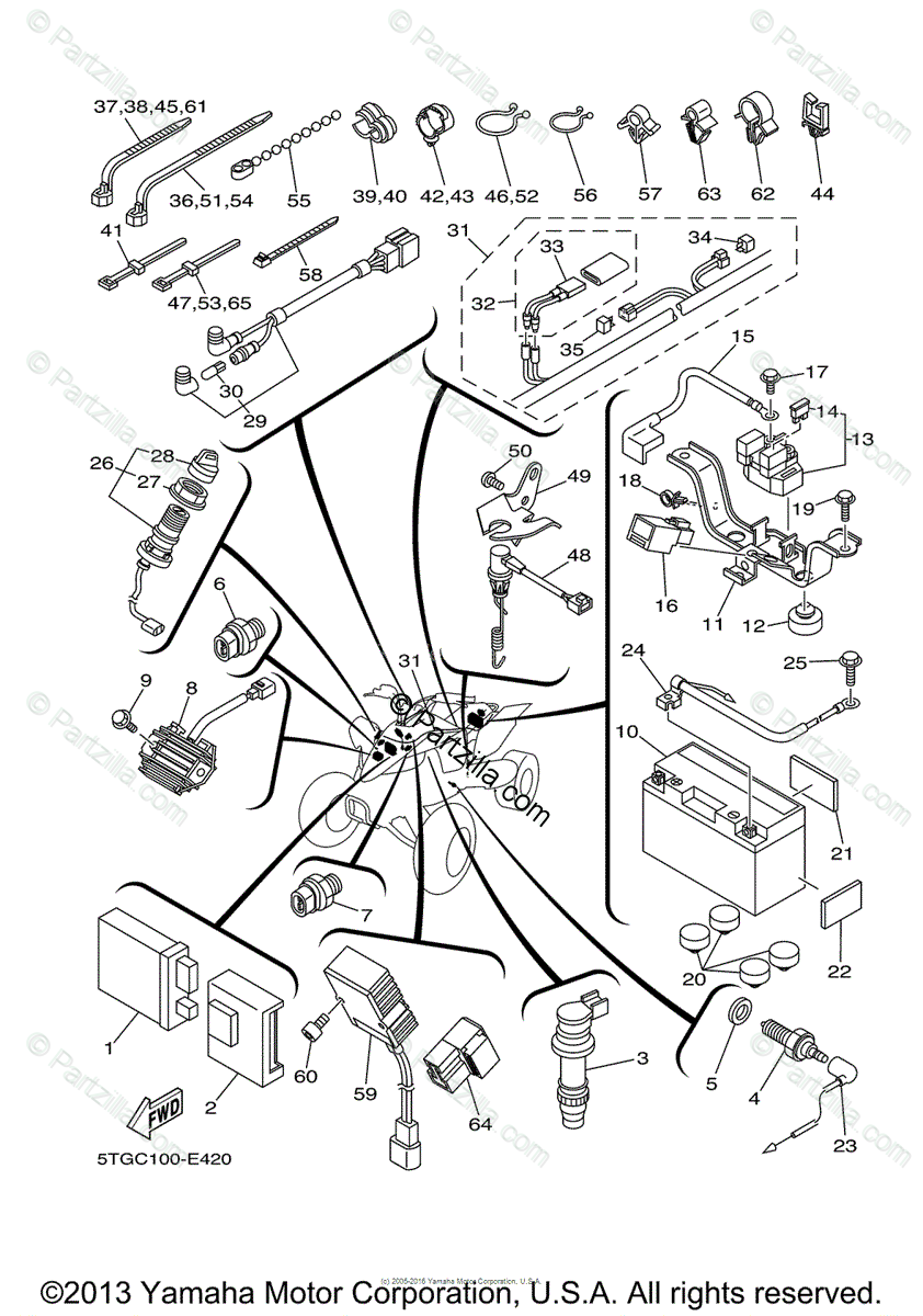 Yamaha Yfz450 Wiring Diagram Free Picture Schematic