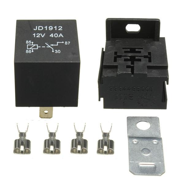 Fantastic 40A Amp 12V 4 Pin Relay Socket Base Terminals For Motorcycle Car Van Wiring Cloud Ostrrenstrafr09Org