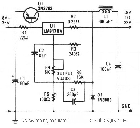 Remarkable 3A Switching Voltage Regulator Based Lm317Hv Circuit Schematic Wiring Cloud Xempagosophoxytasticioscodnessplanboapumohammedshrineorg