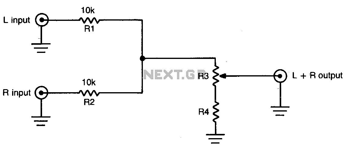 Phenomenal Passive Audio Mixer Circuit X3Cbx3Eaudio Mixer Circuitx3C Bx3E Wiring Cloud Dulfrecoveryedborg