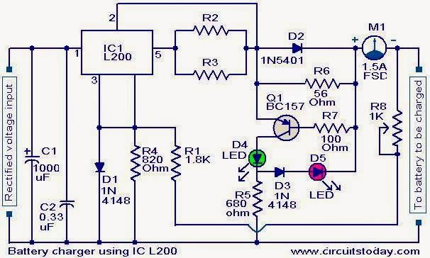 Wondrous Battery Charger Circuit Using L200 Electronics In 2019 Battery Wiring Cloud Staixaidewilluminateatxorg