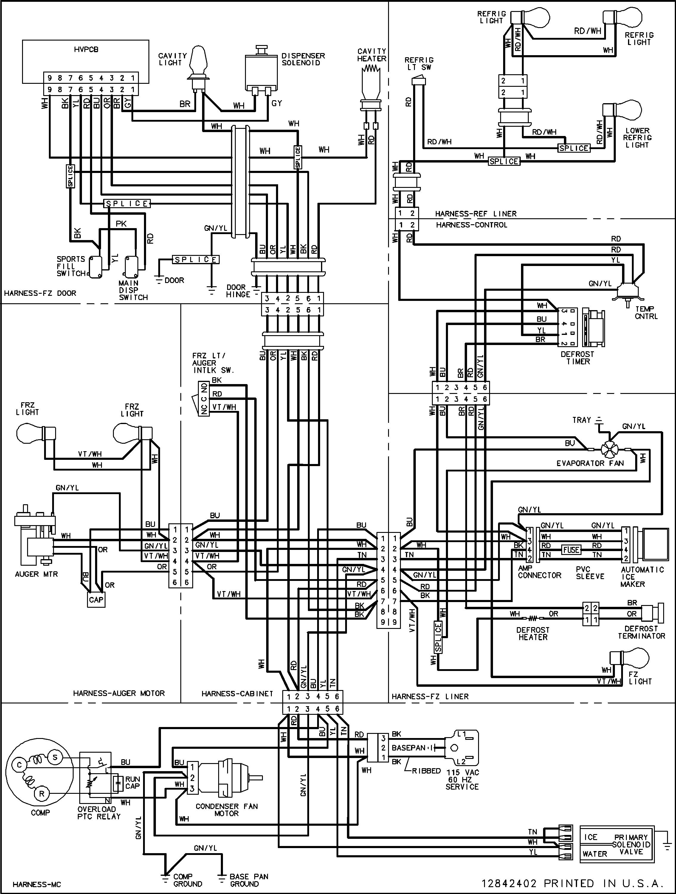whirlpool freezer wiring diagram lk 0447  refrigerator wiring diagram in addition whirlpool  refrigerator wiring diagram in addition