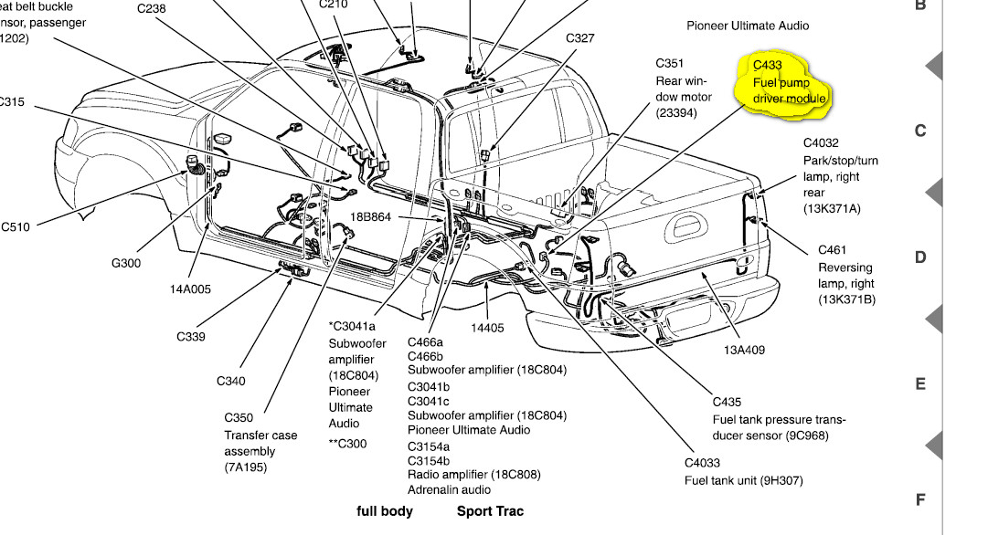 2002 Ford Explorer Sport Trac Parts Diagram