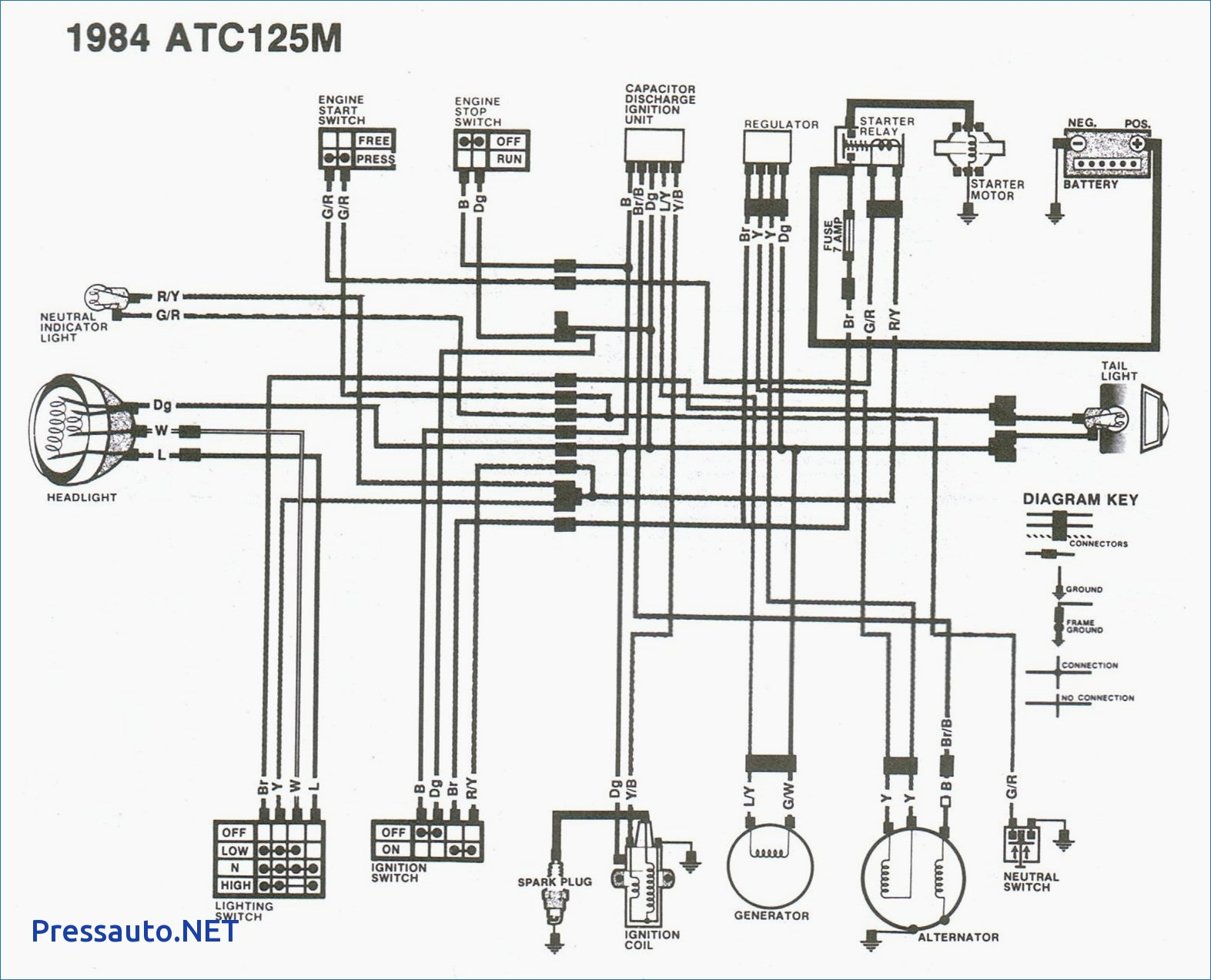 Wiring Diagram For Honda 125m