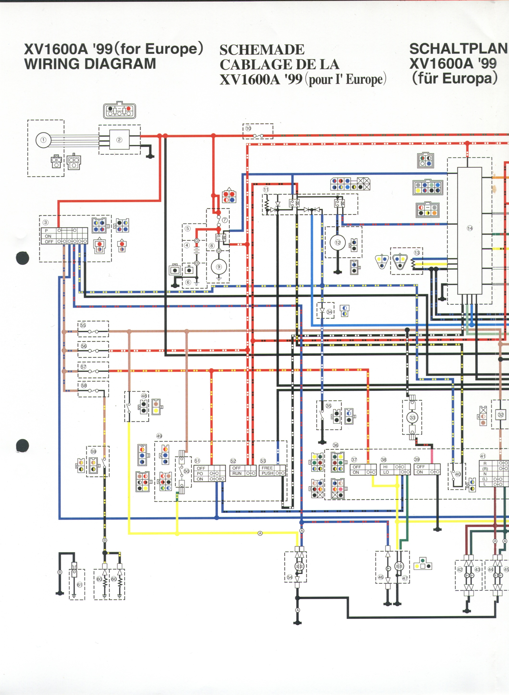 1995 Yamaha Virago 1100 Wiring Diagram
