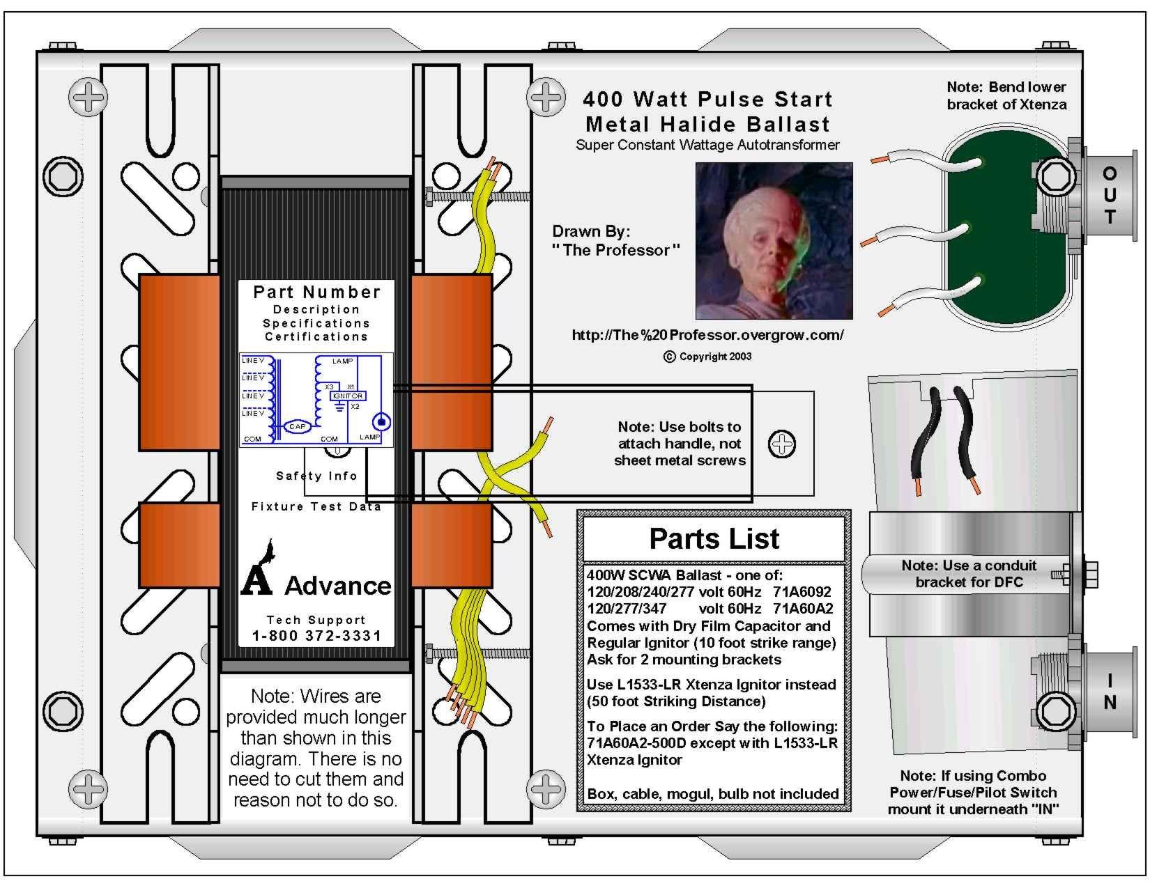 Vx 0270 100 Watt Metal Halide Wiring Diagram Schematic Wiring
