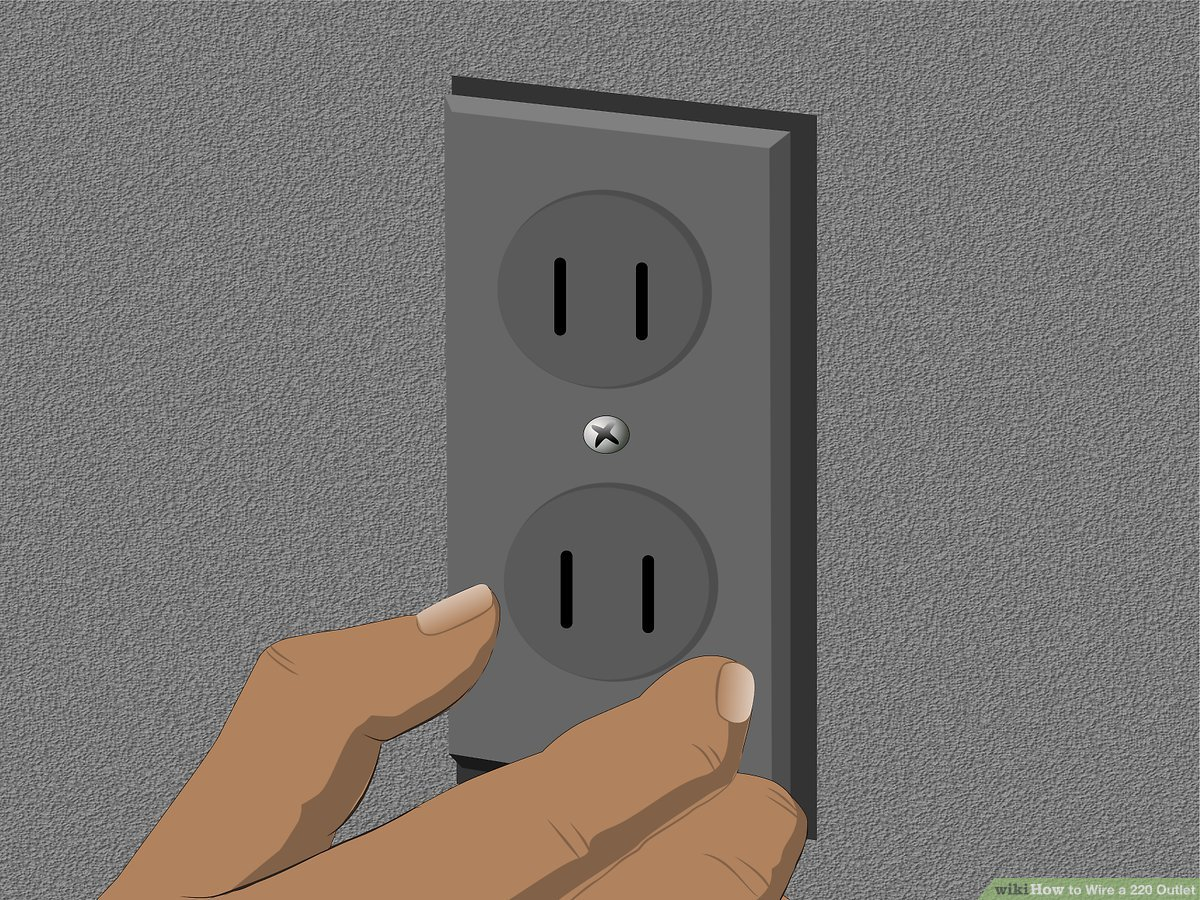 Astounding How To Wire A 220 Outlet 14 Steps With Pictures Wikihow Wiring Cloud Rometaidewilluminateatxorg