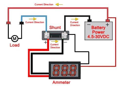 Excellent Amazon Com Digital Current Meter Drok Ammeter Dc 0 50A 2 Wires Led Wiring Cloud Counpengheilarigresichrocarnosporgarnagrebsunhorelemohammedshrineorg