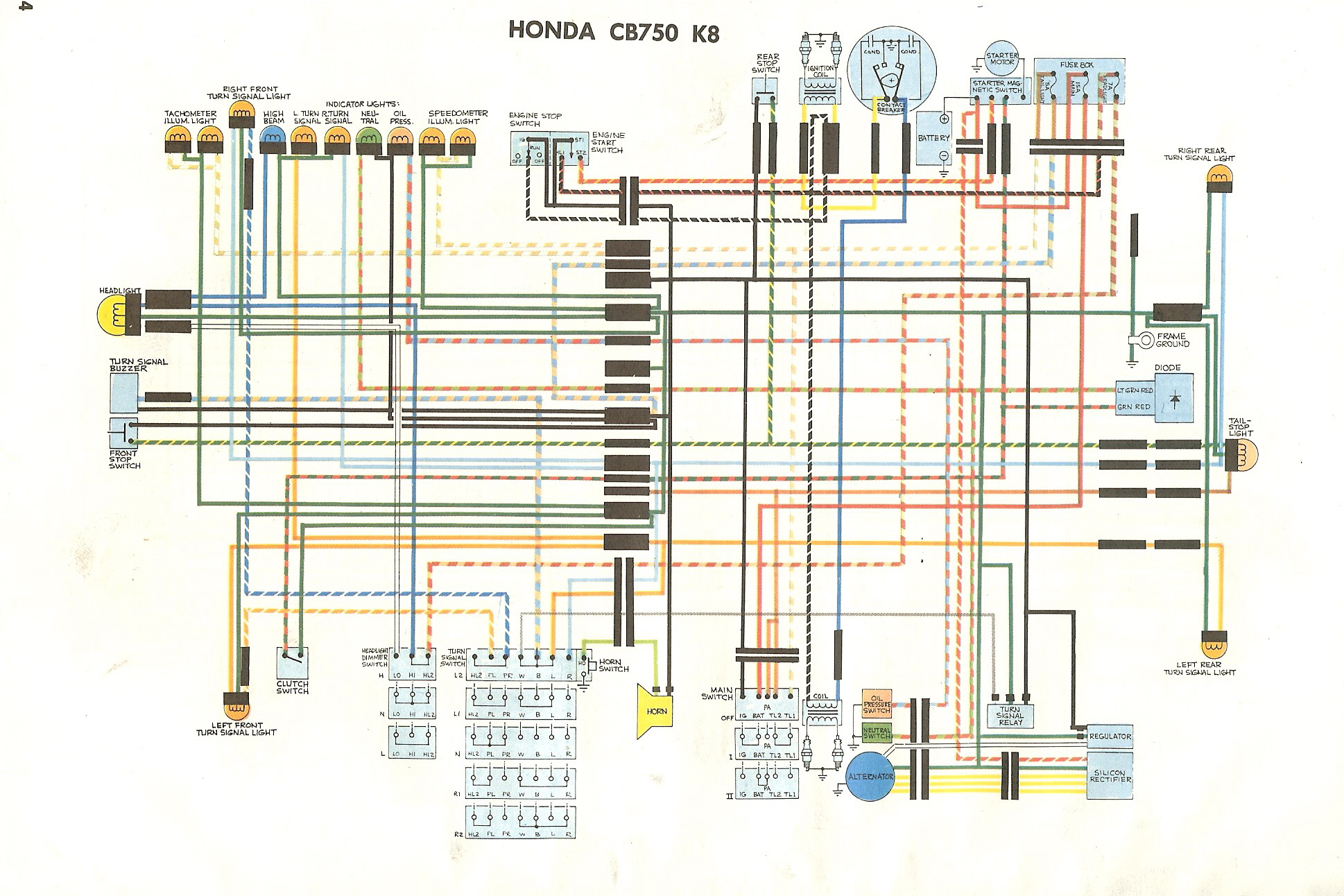 Cb750 Simplified Wiring Diagram