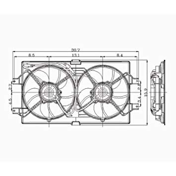 Tremendous Crash Parts Plus Radiator Cooling Fan Assembly For Chrysler 300M Wiring Cloud Rineaidewilluminateatxorg