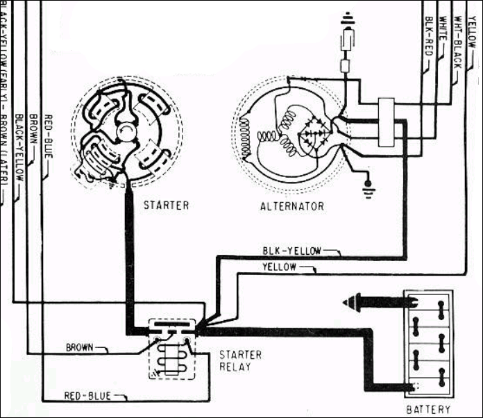 la5338 ford alternator wiring diagram as well as 1967 ford