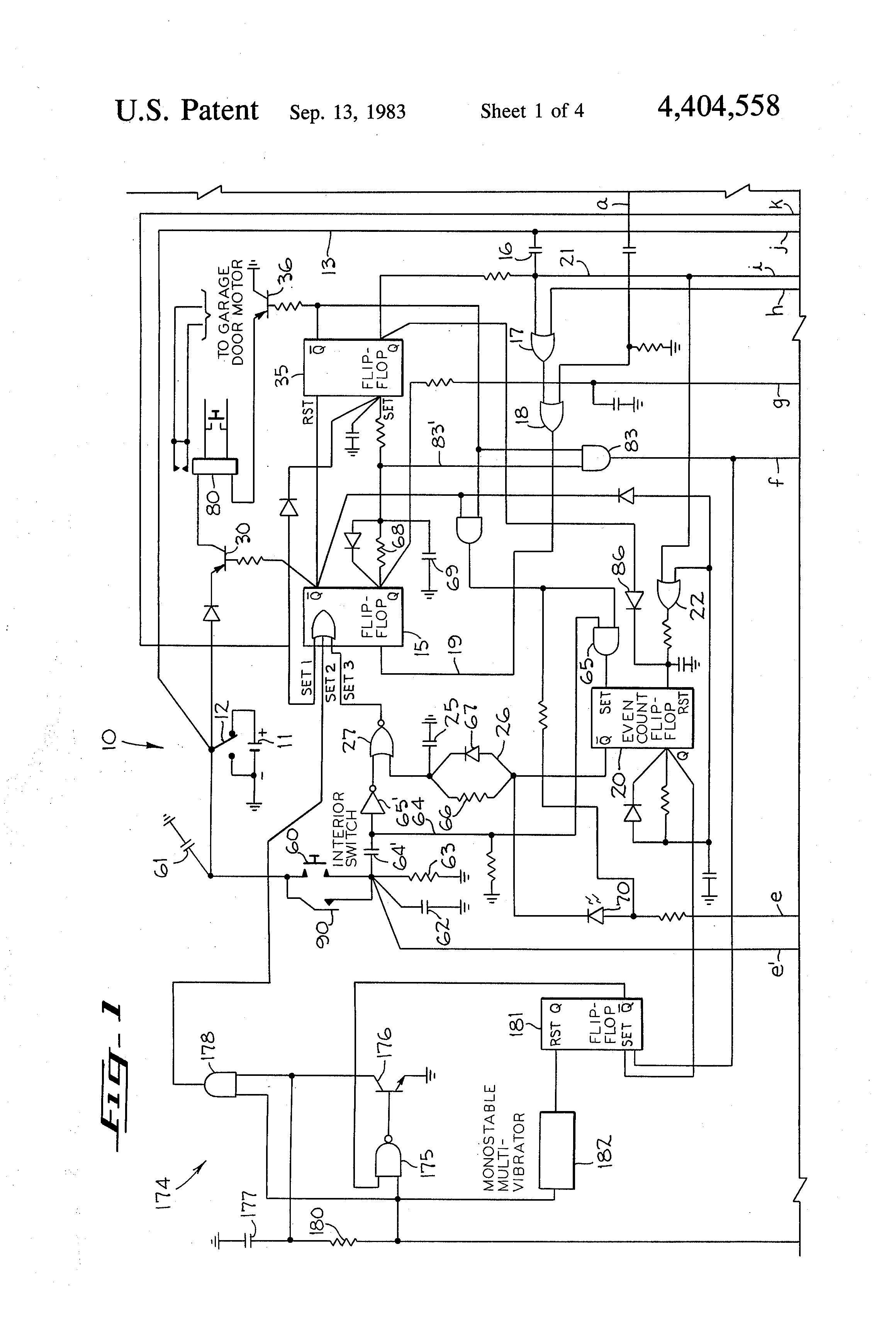 TA_7223] Genie Intellicode Garage Door Opener Wiring Diagram Free Download