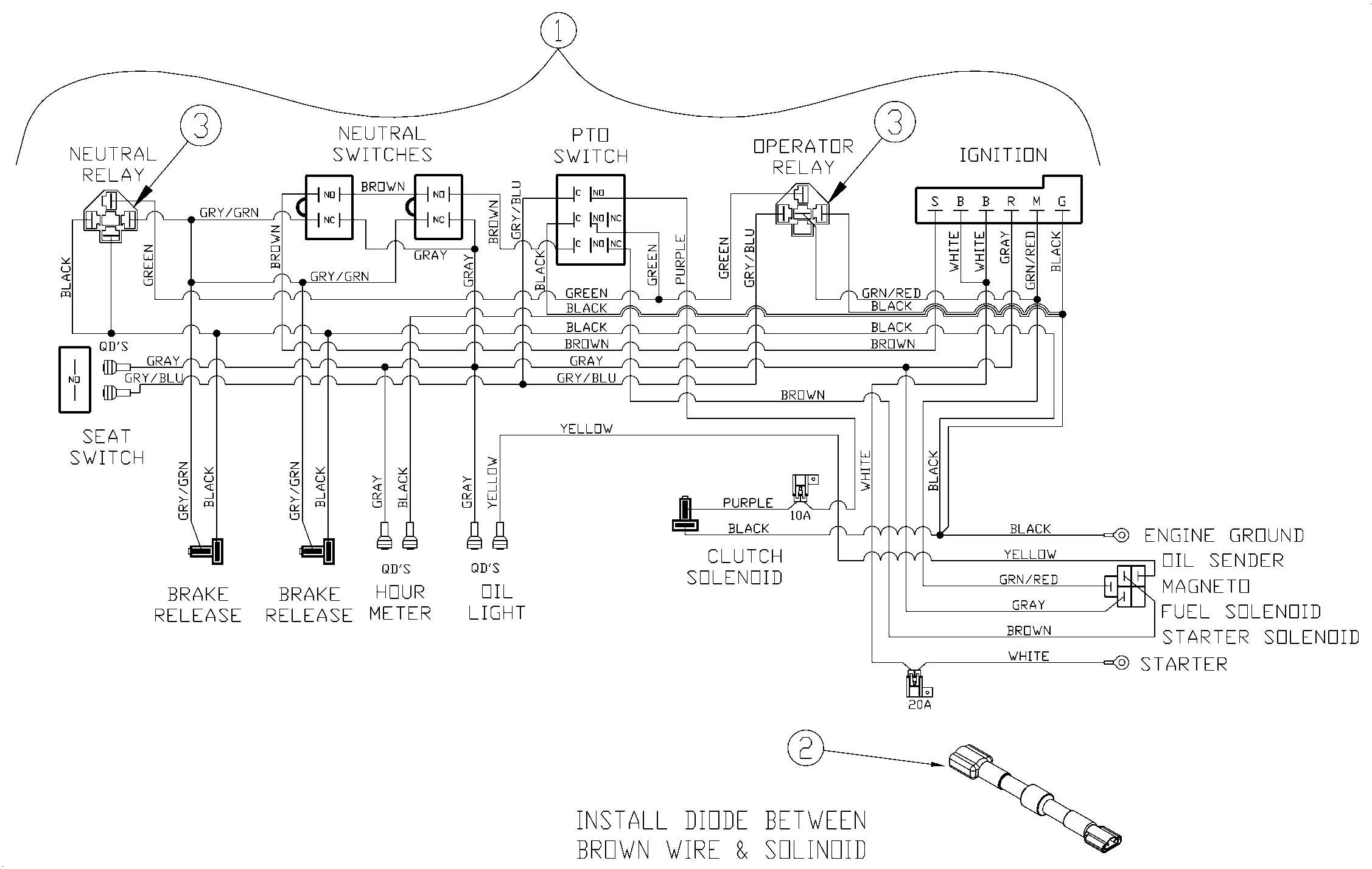 pride wiring harness diagram ml 0392  land pride mower wiring diagram download diagram  land pride mower wiring diagram