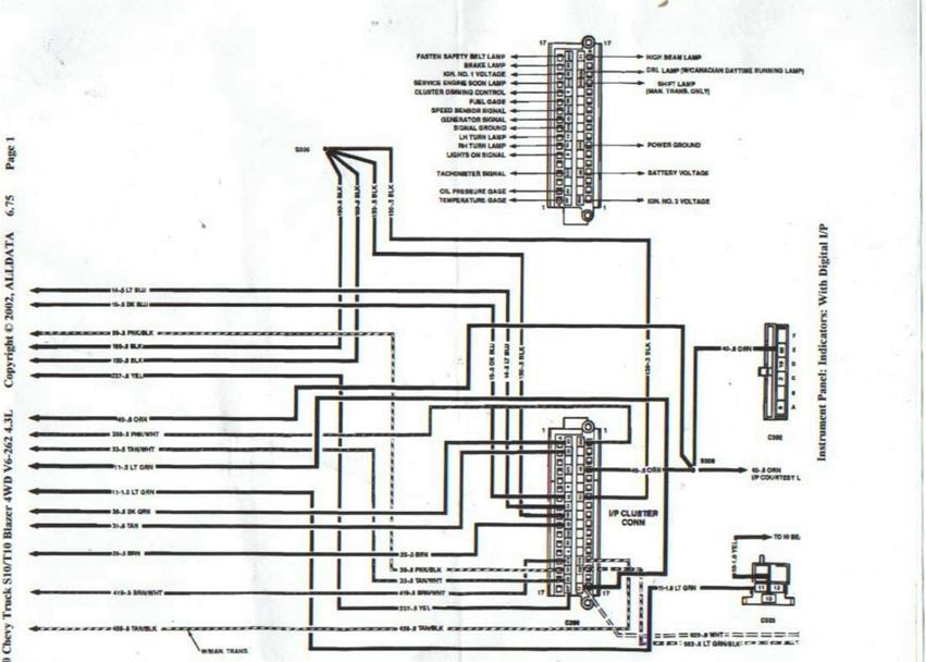 EE_0993] Cluster Wiring Diagram As Well As Chevy S10 Instrument Cluster  Wiring Wiring DiagramTimew Isop Phae Mohammedshrine Librar Wiring 101