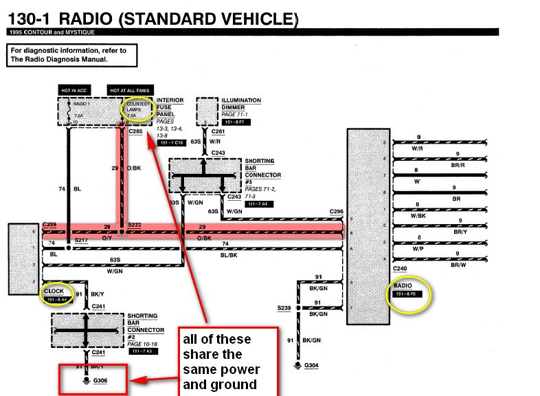 wiring diagram ford 98 contour - Wiring Diagram