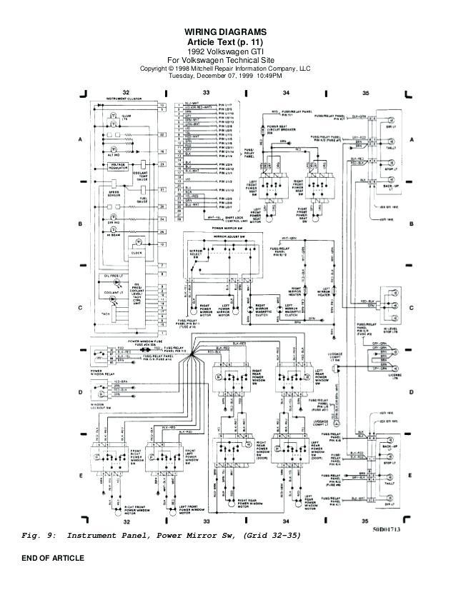 1999 Volkswagen Cabrio Wiring Diagram
