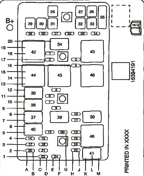 2004 grand prix wiring diagram fuses  schematic wiring
