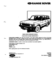 Miraculous Land Rover Range Rover Workshop Manuals Workshopmanual Com Wiring Cloud Ymoonsalvmohammedshrineorg
