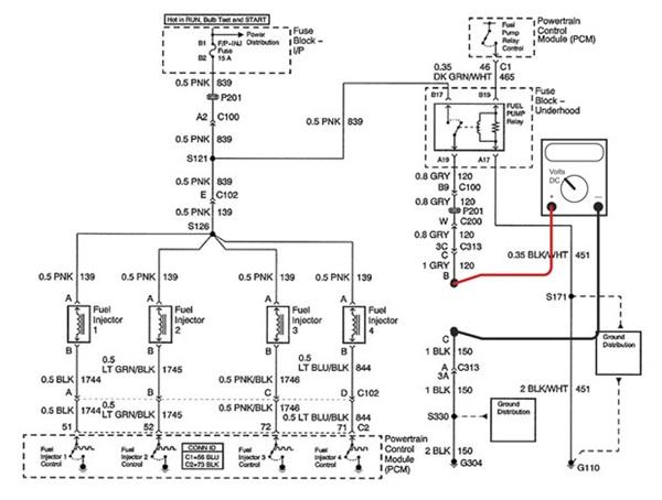 2004 Isuzu Rodeo Fuel Pump Wiring Diagram