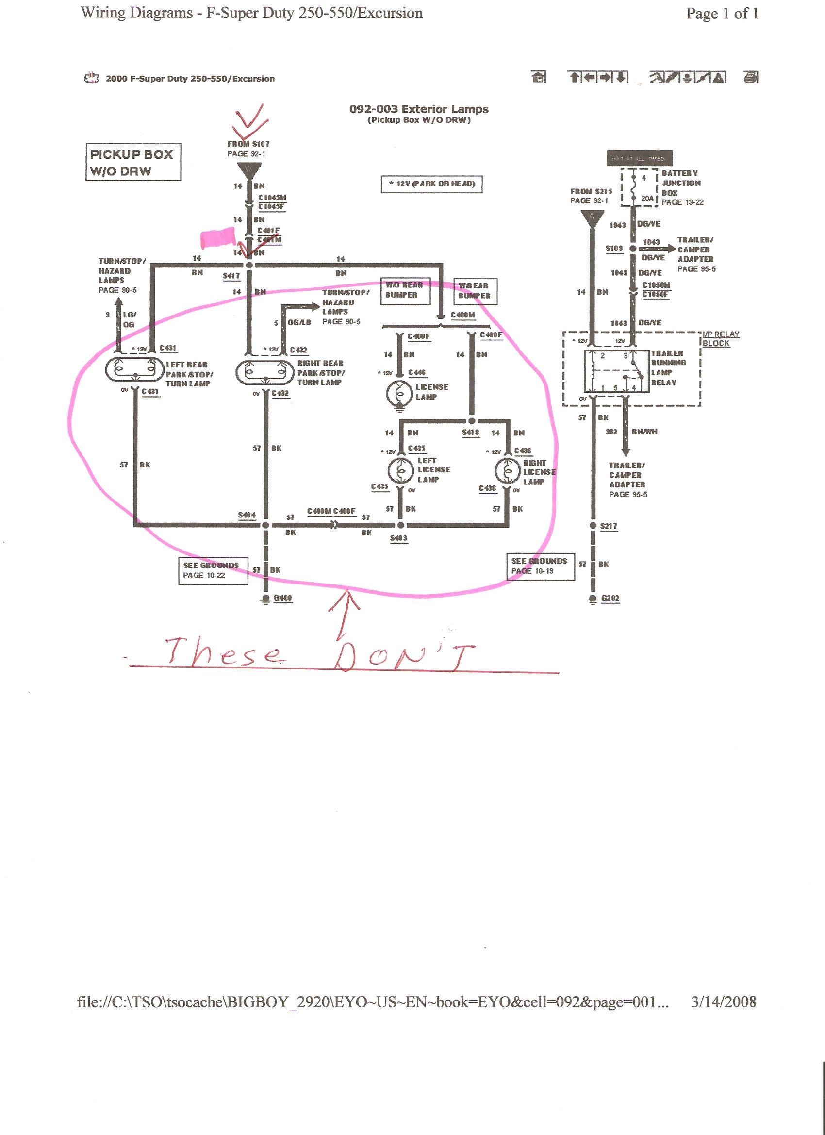 Tz 0913 2000 Ford Excursion Headlight Wiring Diagram Wiring Diagram