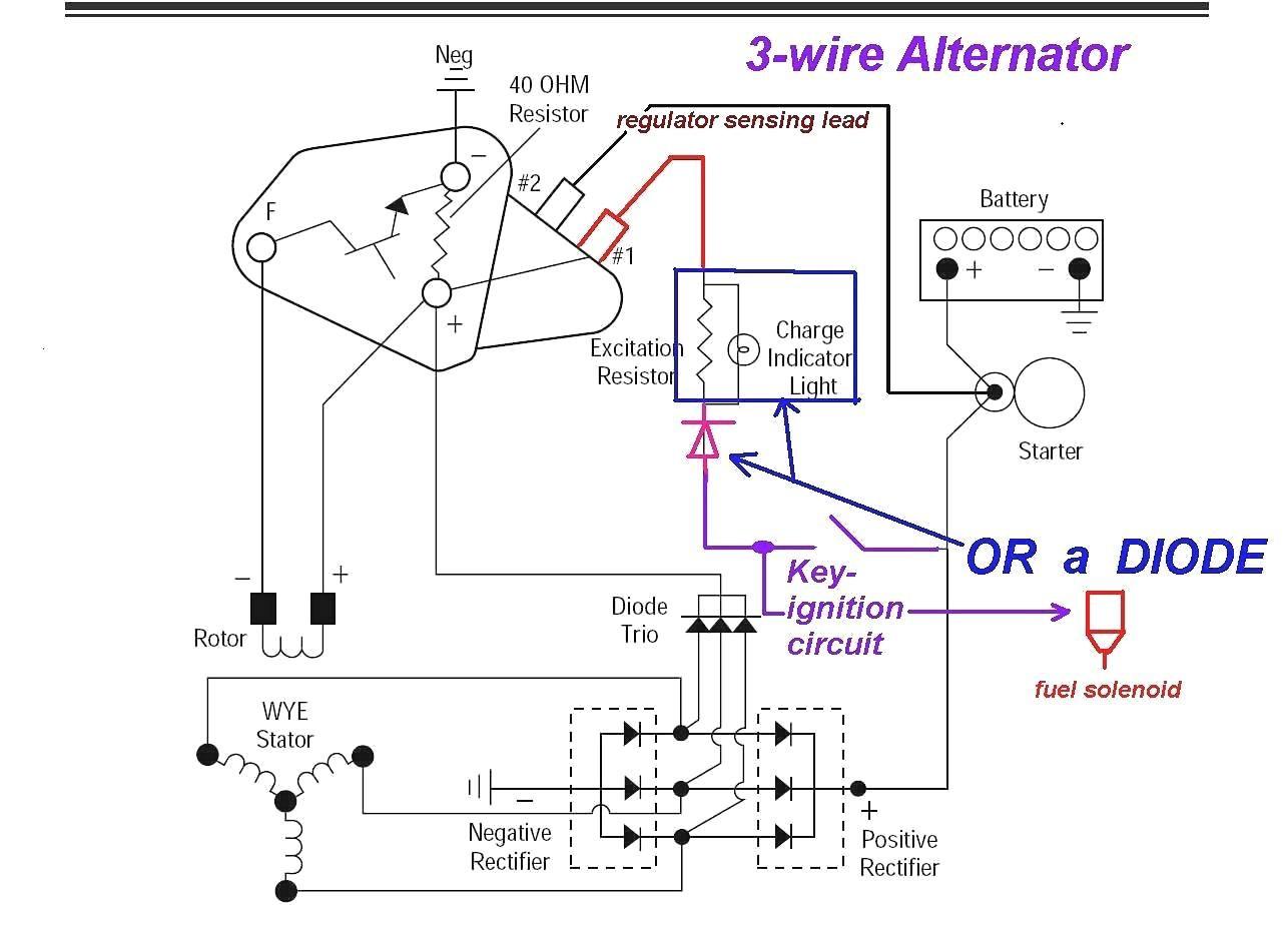 3 Wire Alternator Wiring Diagram Ford