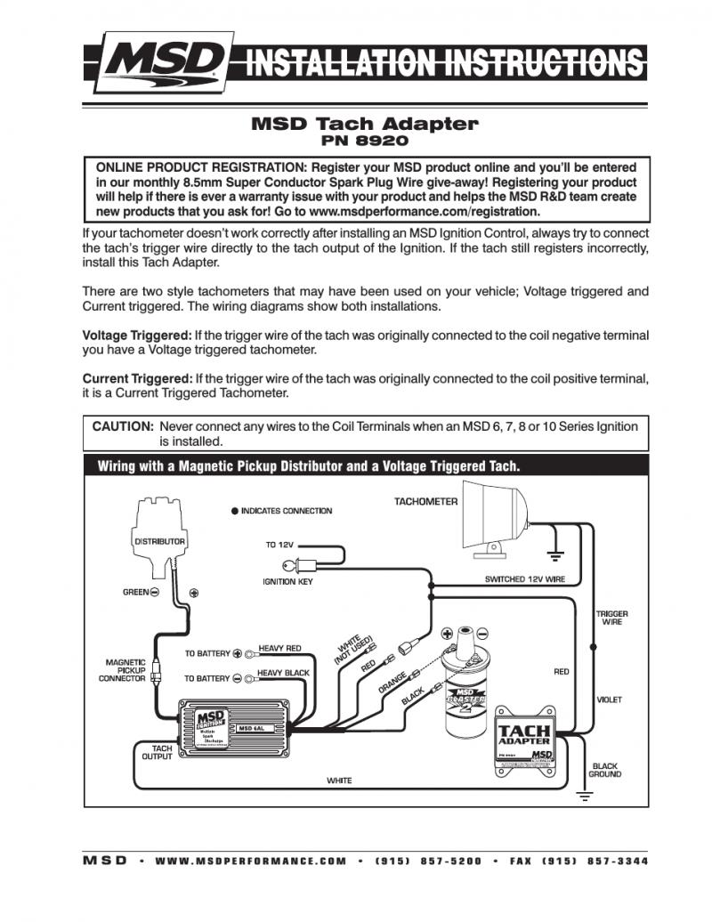 Phenomenal Msd Tachometer Wiring Diagram Basic Electronics Wiring Diagram Wiring Cloud Hemtshollocom