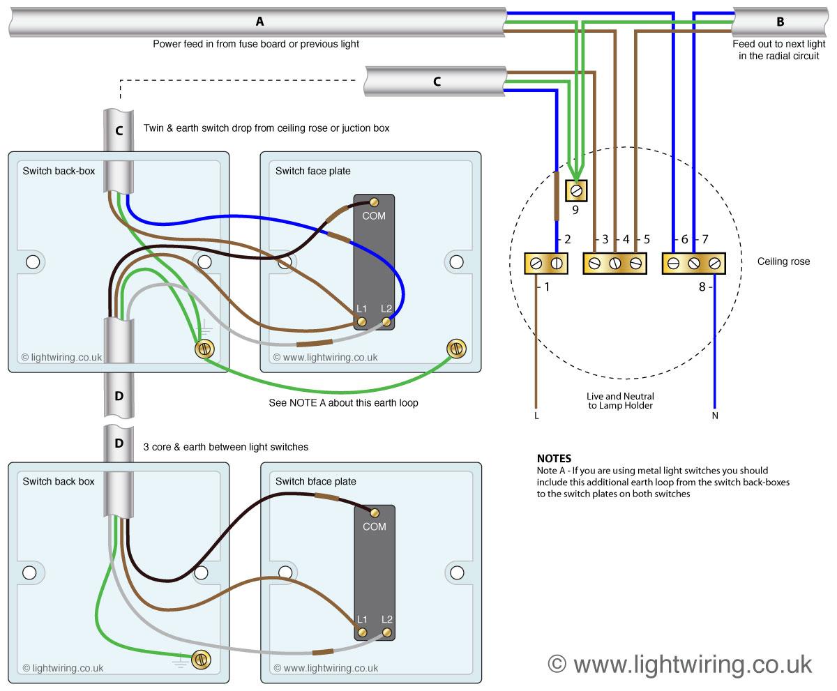 Astounding Lighting 2 Way Switching Wiring Diagram Basic Electronics Wiring Wiring Cloud Hemtshollocom