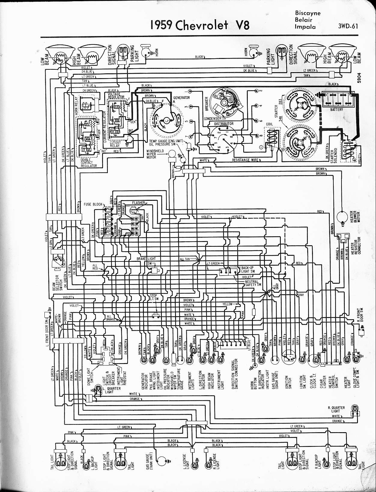 1959 Chevrolet Pickup Wiring Diagram