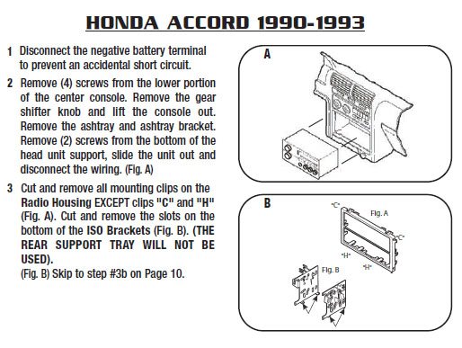 1991 Honda Accord Radio Wiring Diagram Earphone Wiring