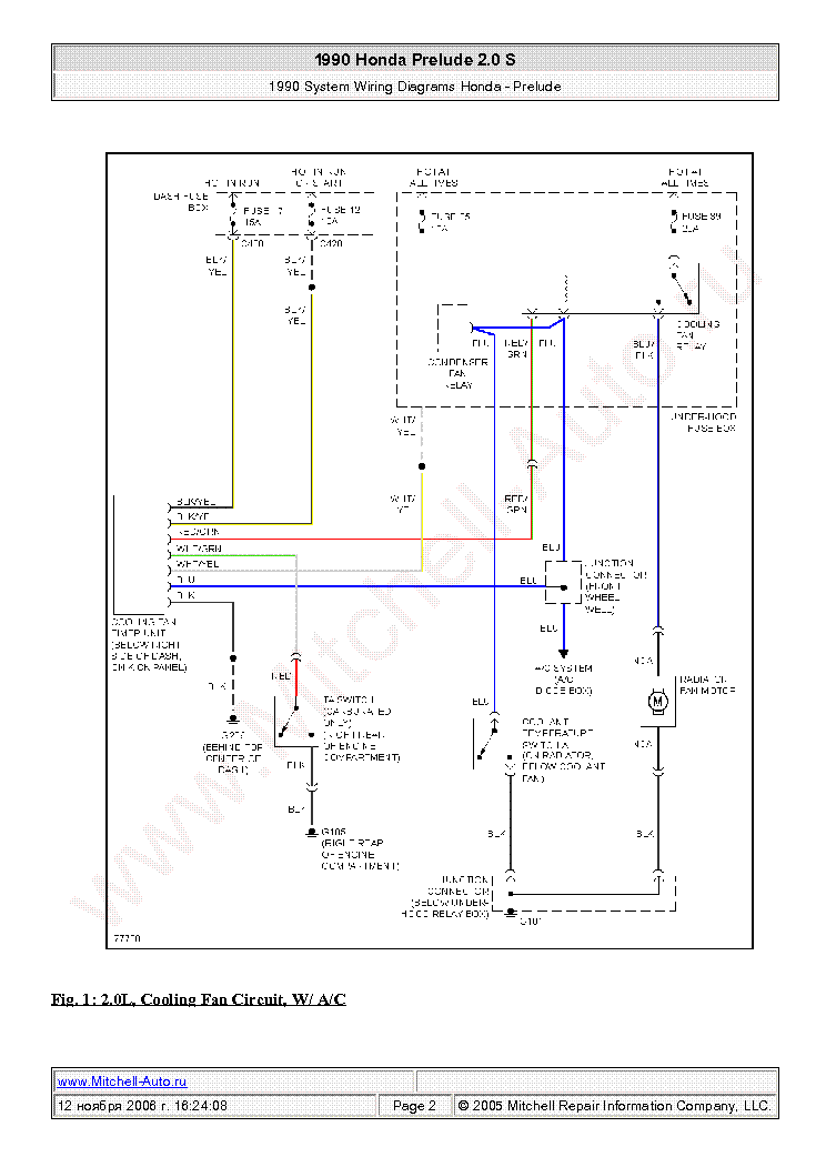 1992 Honda Prelude Wiring Diagram - Wiring Diagram