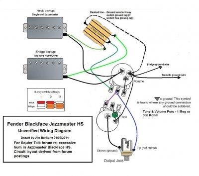 Bh 0158 Fender Blacktop Jazzmaster Wiring Diagram Jazzmaster