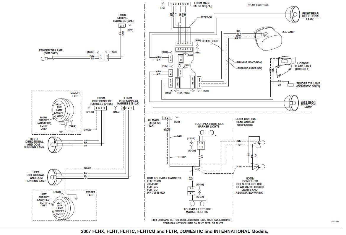 Le 3980 Harley Davidson Tail Light Wiring Diagram Schematic Wiring