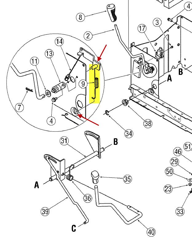 massey harris wiring diagrams cm 6067  pony mower pto cable spring also troy bilt pony mower  pto cable spring also troy bilt pony