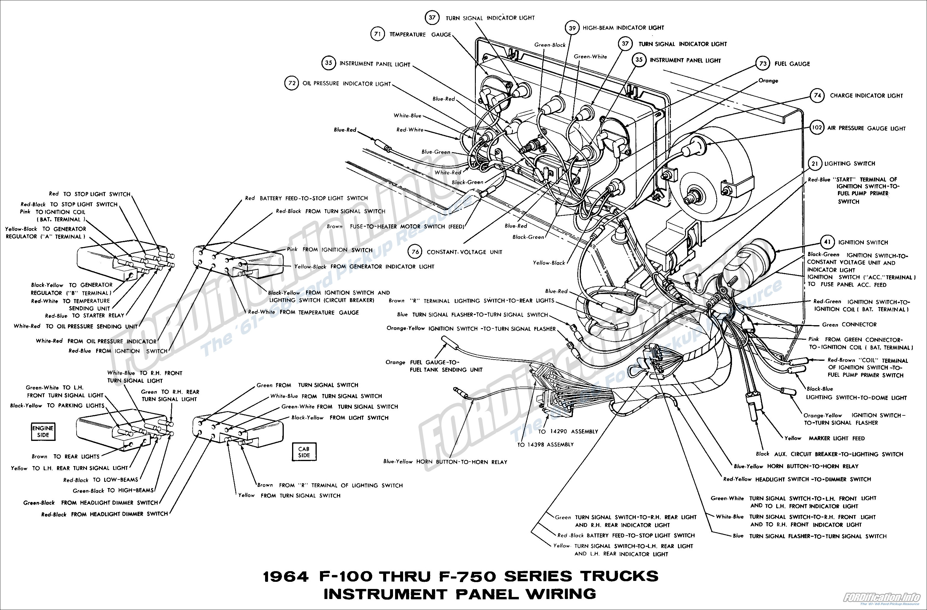 Amazing 1964 Ford Truck Wiring Diagrams Fordification Info The 61 66 Wiring Cloud Orsalboapumohammedshrineorg
