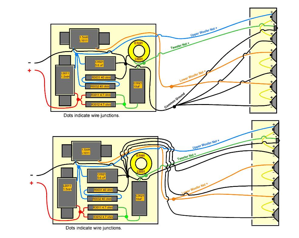 Peachy Speaker Wiring With Crossovers Basic Electronics Wiring Diagram Wiring Cloud Rometaidewilluminateatxorg