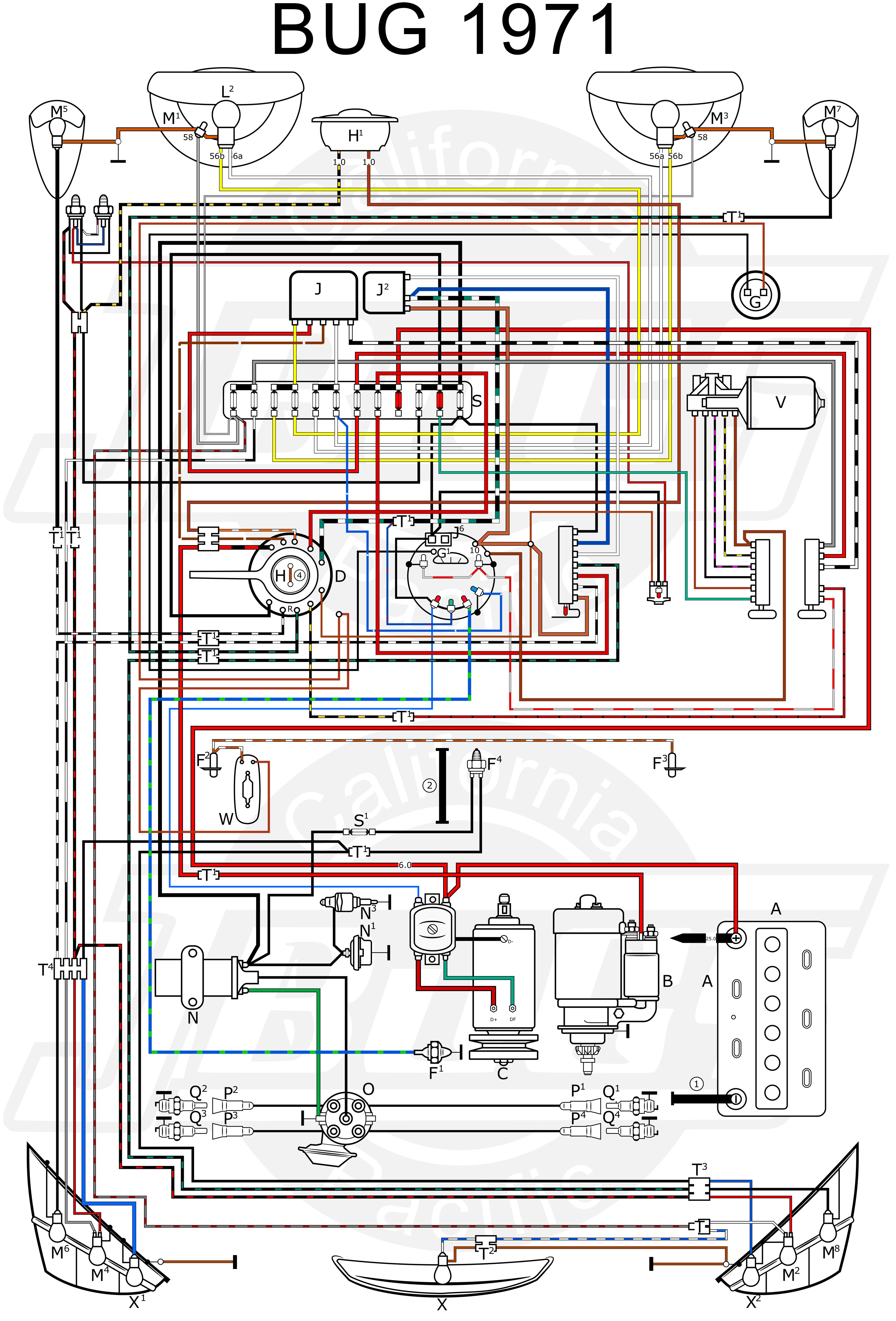Vw Beetle Wiring Diagram 1972