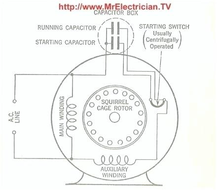 zd9719 single phase capacitor start induction motor wiring