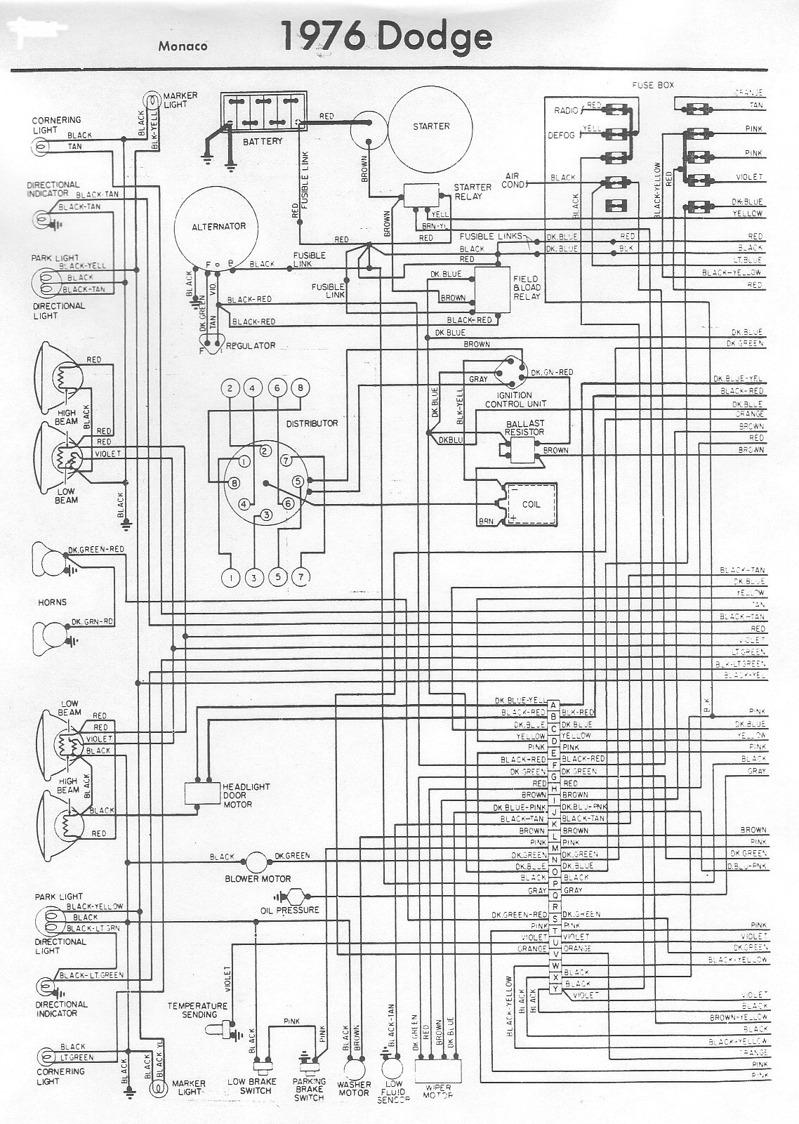 1977 Dodge Sportsman Wiring Diagram