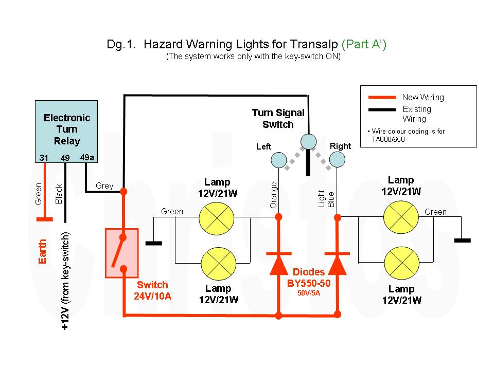 Motorcycle Hazard Light Wiring Diagram