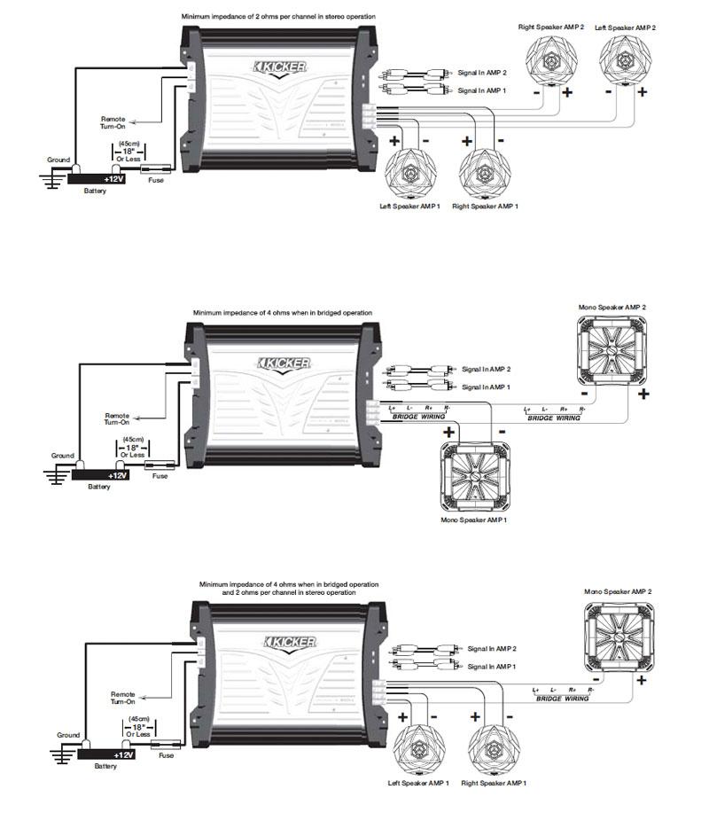 Groovy Amazon Com Kicker 07Mx3504 4X90 Watt Marine Four Channel Amplifier Wiring Cloud Domeilariaidewilluminateatxorg