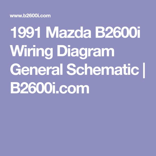 Mazda B2600 Ignition Wiring Diagram