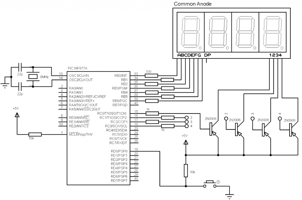 Excellent 4 Digit Digital Counter Using Pic16F877A And Ccs C Compiler Wiring Cloud Licukaidewilluminateatxorg