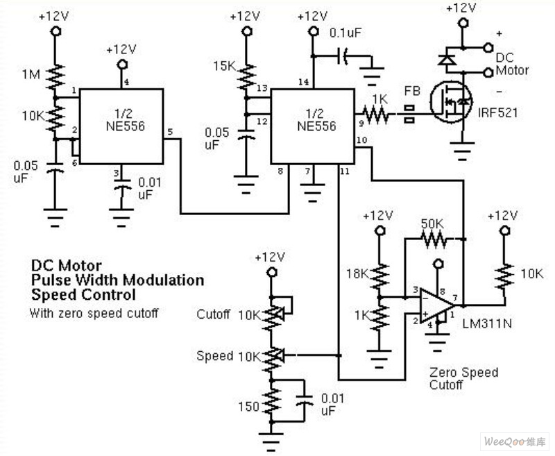 yc5290 schematic of a pulsewidth modulator pwm controlling
