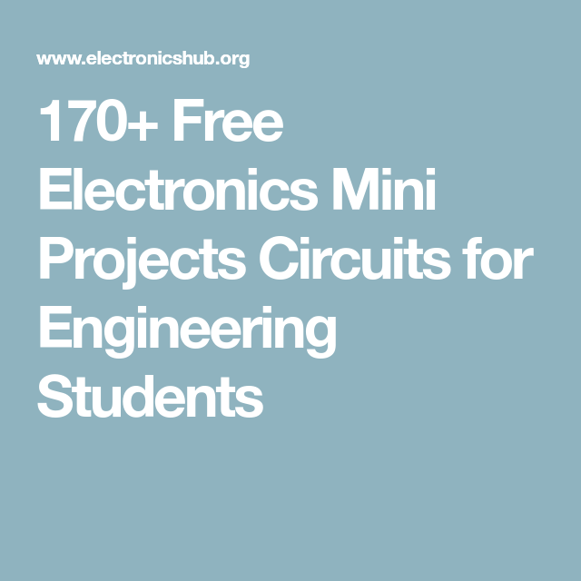 Awesome 160 Free Electronics Mini Projects Circuits For Engineering Wiring Cloud Cranvenetmohammedshrineorg