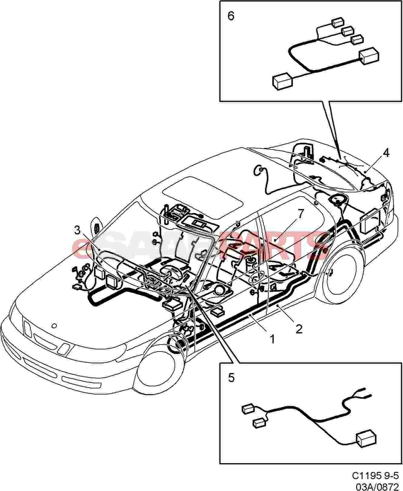 Lh 6958  Saab Towbar Wiring Diagram Schematic Wiring