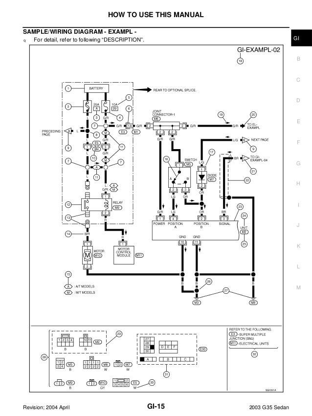 Awe Inspiring 2003 Infiniti G35 Ignition Wiring Diagram Wiring Diagram Read Wiring Cloud Timewinrebemohammedshrineorg